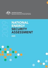 national energy security assessment - Australian Institute of Petroleum