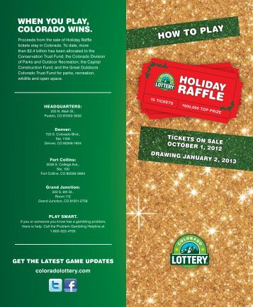 hOW tO plaY - Colorado Lottery