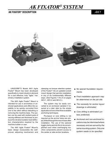 UNISORB AK Fixator System - Unisorb Installation Technologies