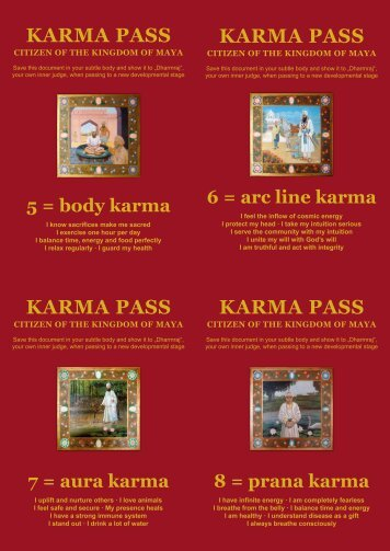 karma pass - 3HO Europe
