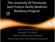 Program Slide Show - The University of Tennessee Health Science ...