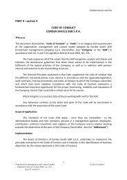 Cordea Savills SGR S.p.A. - Modello 231 - Parte II_sezione 4 ...