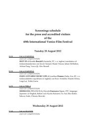Screenings schedule for the press and accredited visitors of the 69th ...