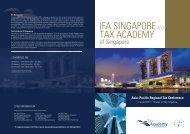 Asia–Pacific Regional Tax Conference - Law Society of Singapore