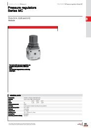 3 Pressure regulators Series MC