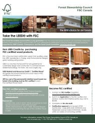 Take the LEED® with FSC - Upper Canada Forest Products