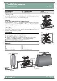 Produktbladför Tryckhållningssystem - Armatec