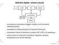 Multimetro digitale - schema a blocchi