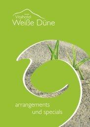 arrangements und specials - Weiße Düne