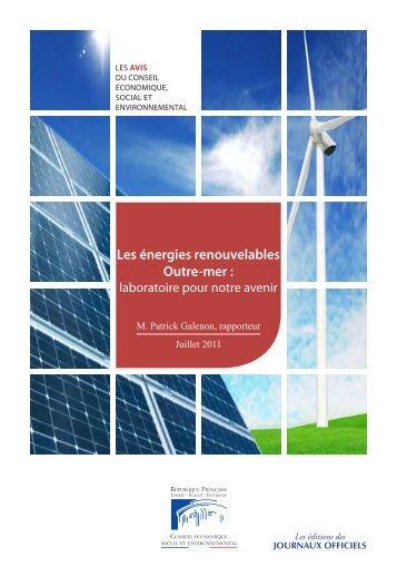 Les énergies renouvelables Outre-mer : laboratoire ... - Smart Grids