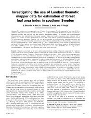 Investigating the use of Landsat thematic mapper data for estimation ...