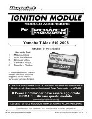 Yamaha T-Max 500 2008 - Power Commander