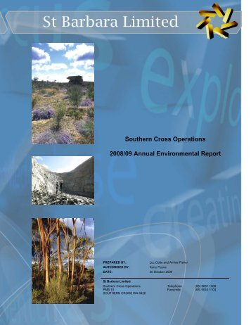 Southern Cross Operations Annual Environmental Report 2008 - 2009