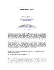 Trade and Empire - UCLA International Institute