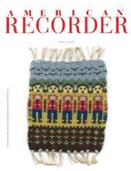 m a y 2 0 0 6 - American Recorder Society