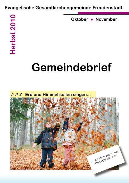 Gemeindebrief Evangelische Kirchengemeinde Freudenstadt