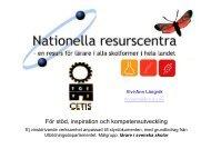 Nationella resurscentra (1,6 MB) - Skolverket