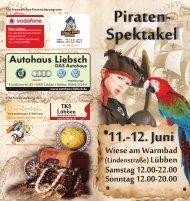 Flyer 2011 - Piraten Spektakel