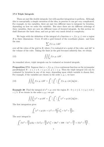 double and triple integrals pdf