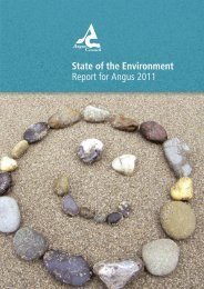 State of the Environment Report for Angus 2011 - Angus Council
