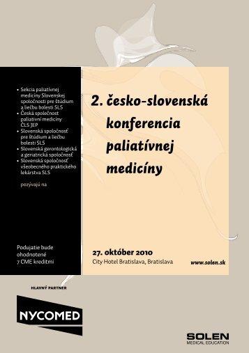 Odborný program - Solen