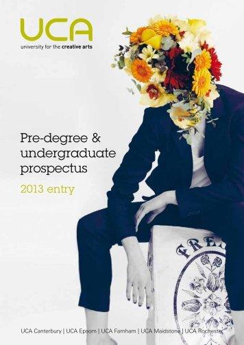 Pre-degree & undergraduate prospectus - holding page - University ...