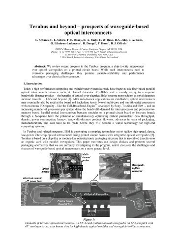 Terabus and beyond – prospects of waveguide-based optical ...