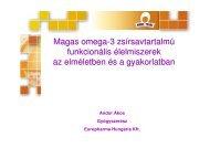 Magas omega-3 zsírsavtartalmú funkcionális élelmiszerek az ...