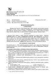 Rozhodnutí o změně stavby - přístavba RD č.p ... - Horní Počernice