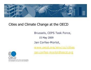 Cities and Climate Change at the OECD