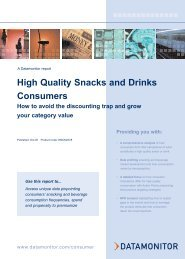 High Quality Snacks and Drinks Consumers - Datamonitor