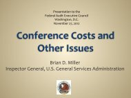 Brian Miller - Presentation - Council of the Inspectors General on ...