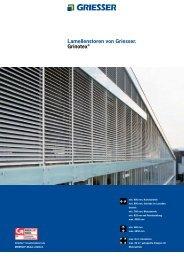 Lamellenstoren von Griesser. Grinotex® - V. Proietto GmbH