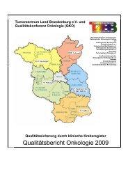 Qualitätsbericht Onkologie 2009 - Tumorzentrum Land Brandenburg