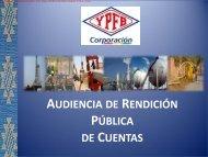 Presentación: Yacimientos Petrolíferos Fiscales Bolivianos (YPFB)
