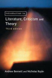 An Introduction to Literature, Criticism and Theory Third edition