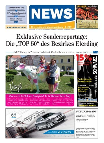"Die ""TOP 50"" des Bezirkes Eferding - NEWS-ONLINE.at"