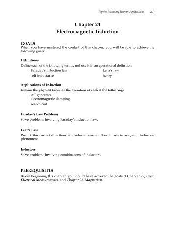 Chapter 24 Electromagnetic Induction