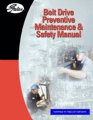 Gates Belt Drive Preventive Maintenance & Safety ... - Richards Co.