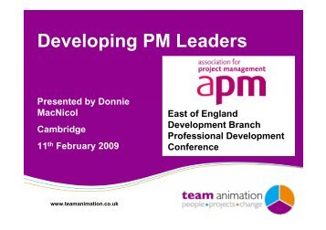 Developing PM Leaders - Association for Project Management