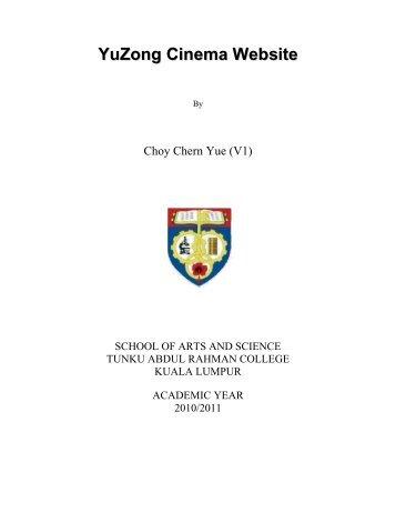 YuZong Cinema Website - Tunku Abdul Rahman College