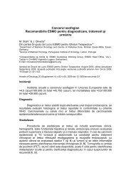 Cancerul esofagian - Spitalul Clinic Municipal de Urgenta Timisoara