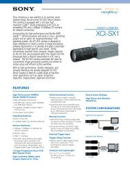 download sony xcisx1 product manual - Go Electronic