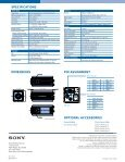 download sony xcisx1 product manual - Go Electronic - Page 2