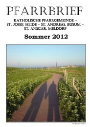 Sommer 2012 - Katholische Pfarrgemeinde St. Josef - Heide