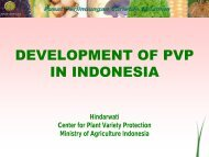 development of pvp in indonesia - The East Asia Plant Variety ...