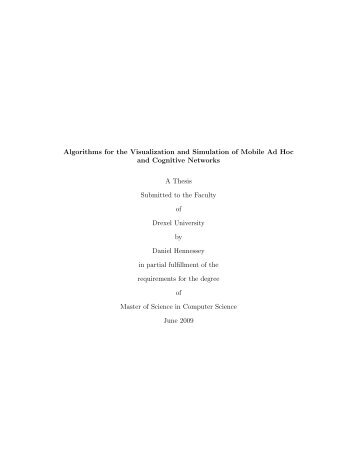 Algorithms for the visualization and simulation of mobile ad hoc and ...
