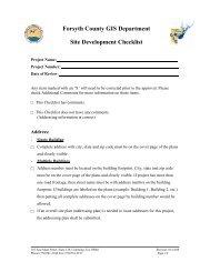 Site Development Checklist - Forsyth County Government