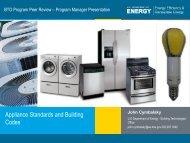 Appliance Standards and Codes Program Overview - EERE - U.S. ...