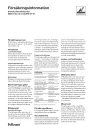Försäkringsinformation - Folksam
